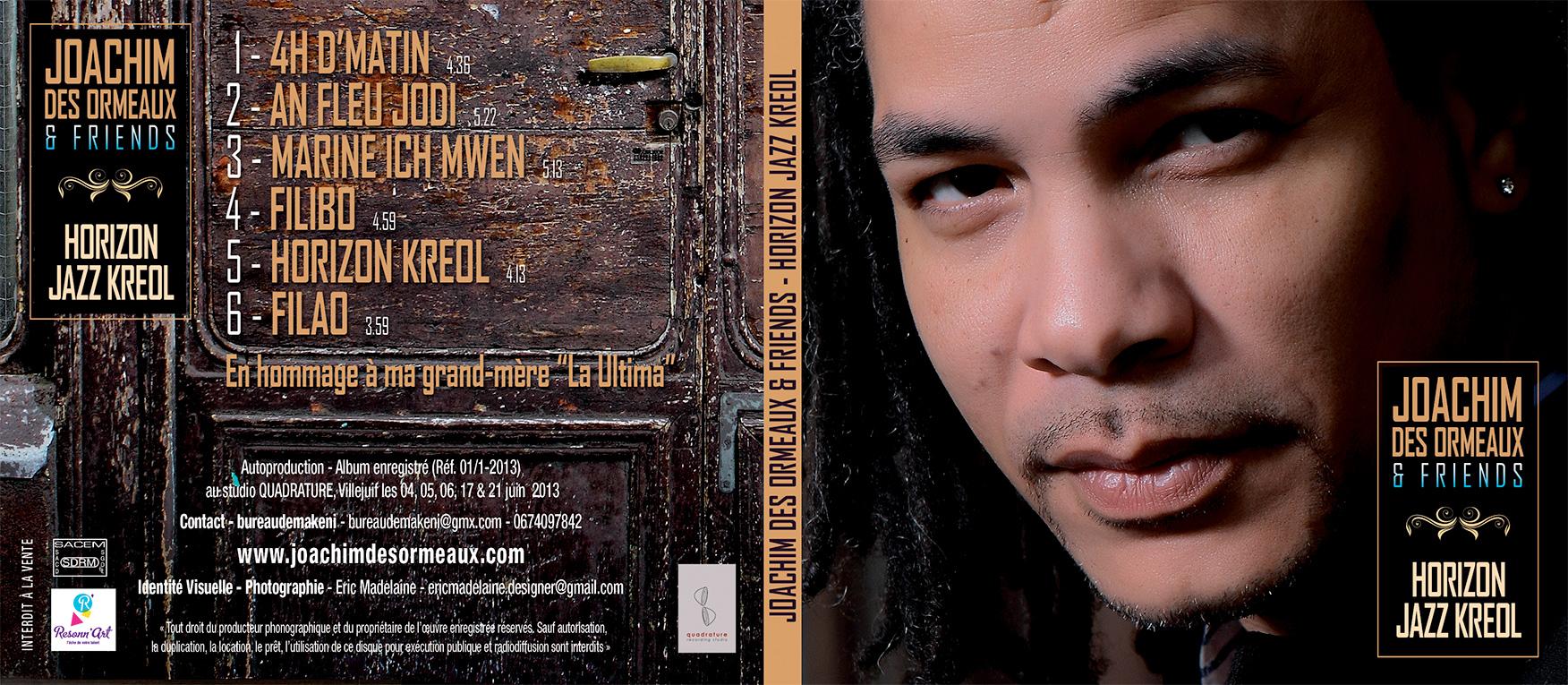 Réalisation de la couverture de Horizon Jazz Kreol, EP de Joachim des Ormeaux - Eric Madelaine