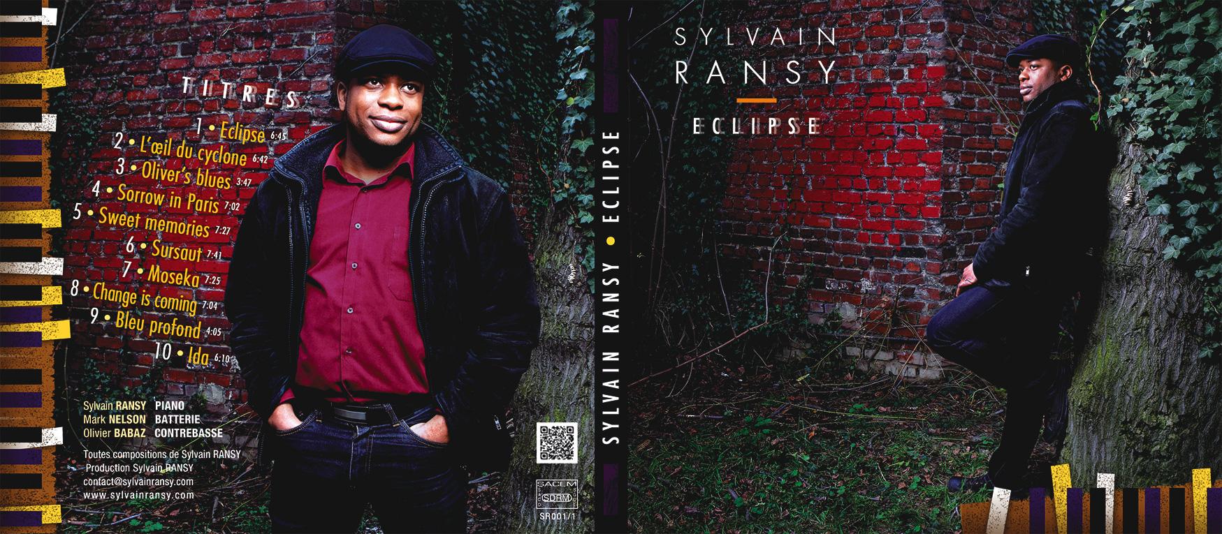 Réalisation de la couverture d'Eclipse, album du pianiste Sylvain Ransy - Eric Madelaine